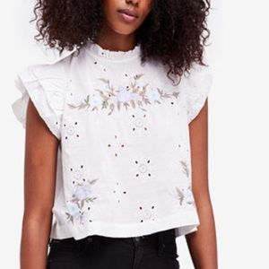 FP Picnic in the Park Embroidered Eyelet Top